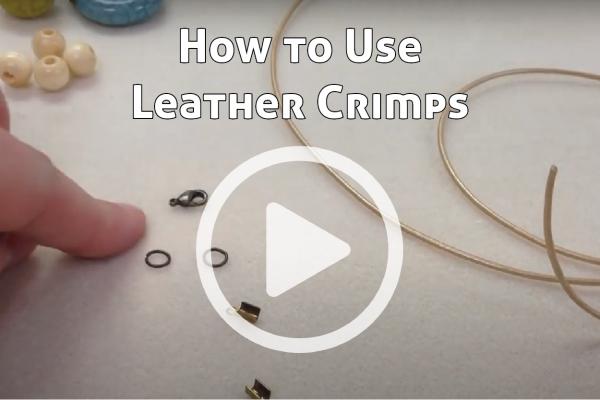 How to Use Leather Crimps link to You Tube Video