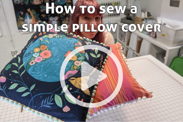 How to Sew a Simple Pillow Cover link to You Tube Video
