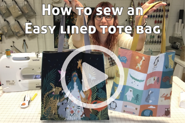 How to Sew an Easy Lined Tote Bag link to You Tube Video