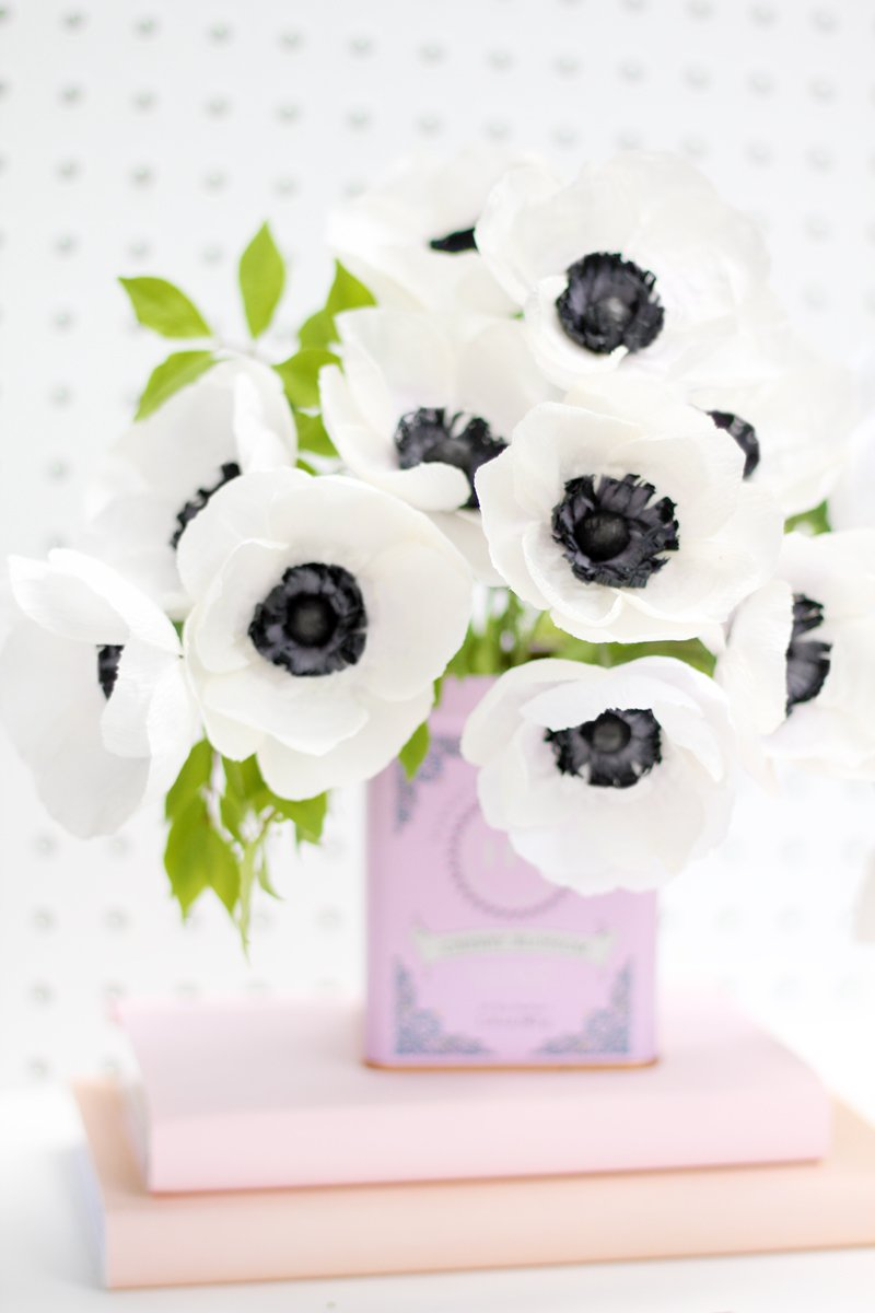 Anemone Paper Flower PDF Instructions