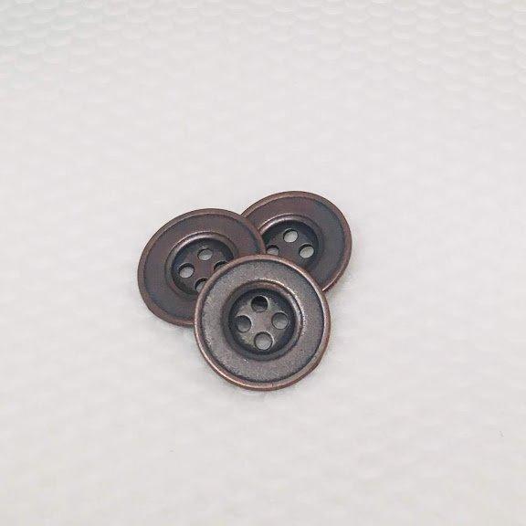 Antique Copper Four Hole Metal Button