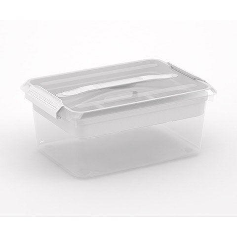 Storage Tote with Latch Lid & Supply Tray