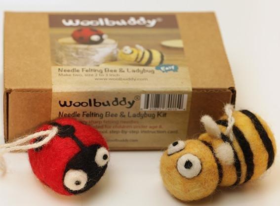 Bee and Ladybug Needle Felting Kit
