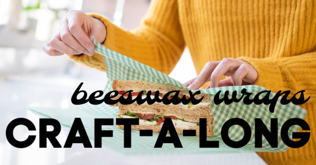 woman makes beeswax kitchen wrap using craft habit raleigh free video lesson independent sewing crafting supply store north carolina