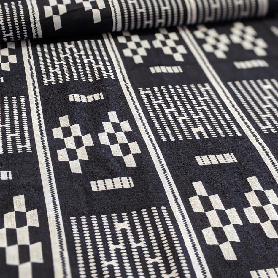 Black & White Woven Cotton
