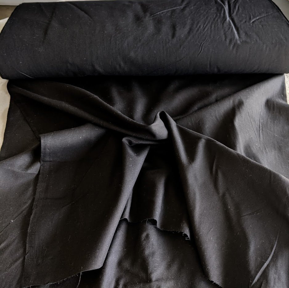 Black Cotton Broadcloth