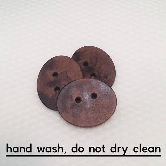 Brown Leather Oval Button