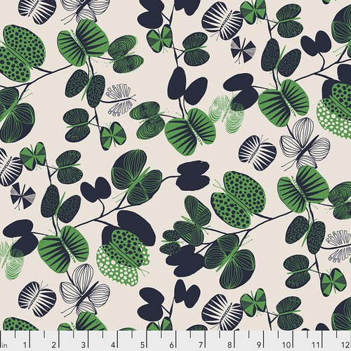 Butterfly Leaves Cotton Print