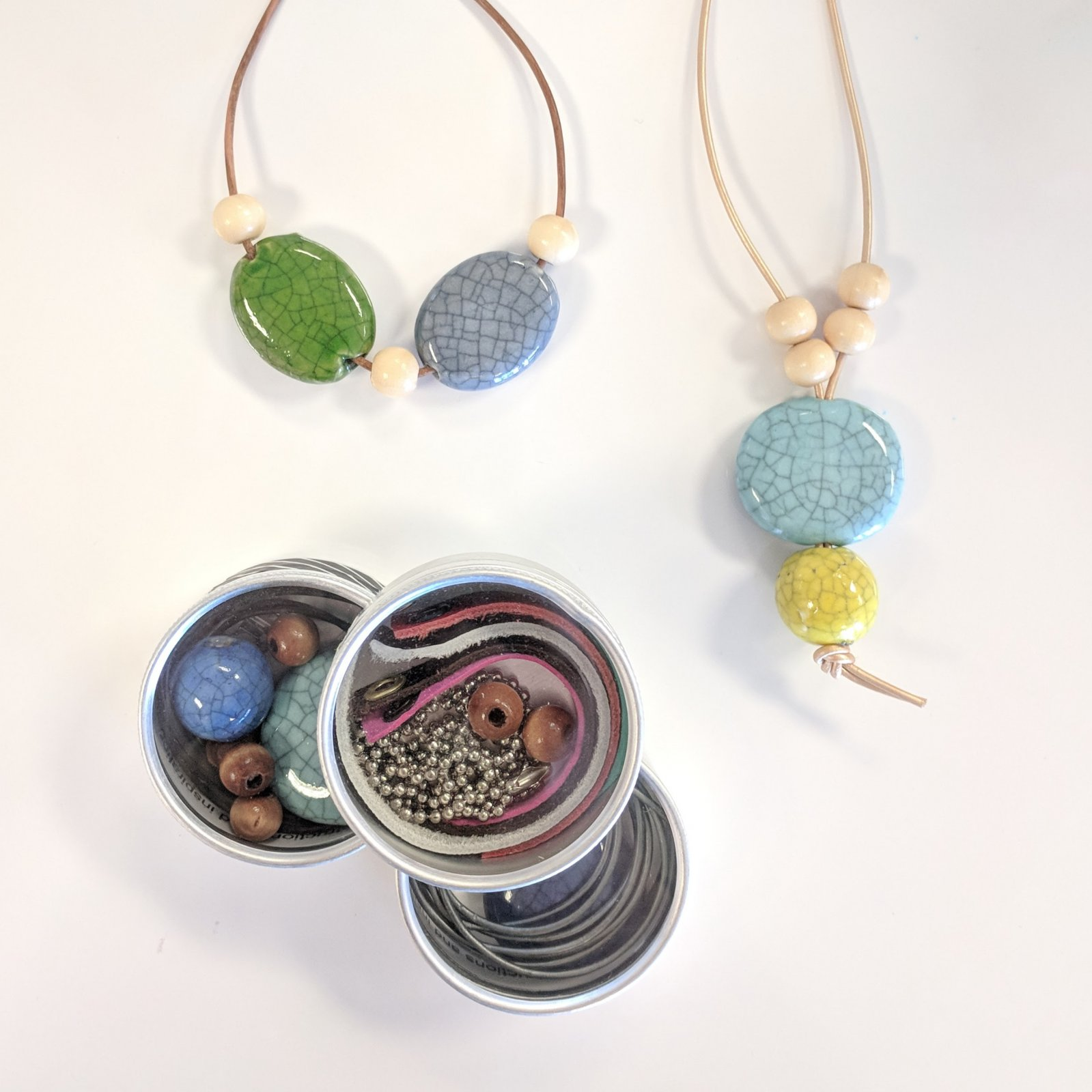 Ceramic Bead Necklace Kit