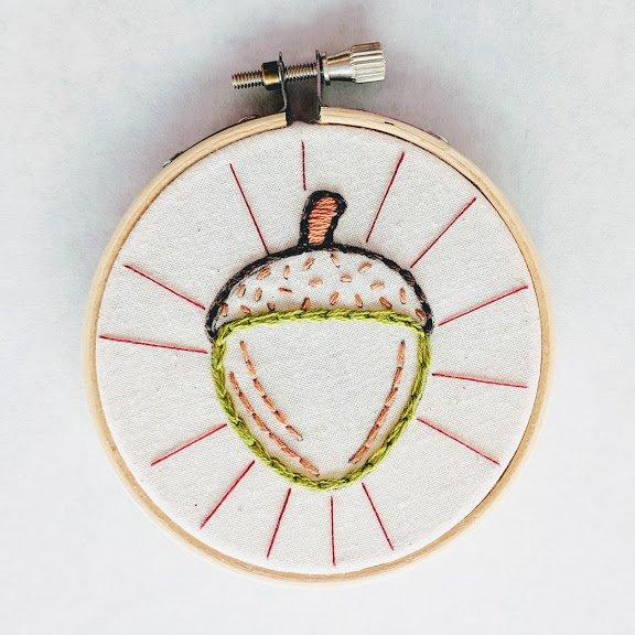 Acorn Mini Embroidery Kit