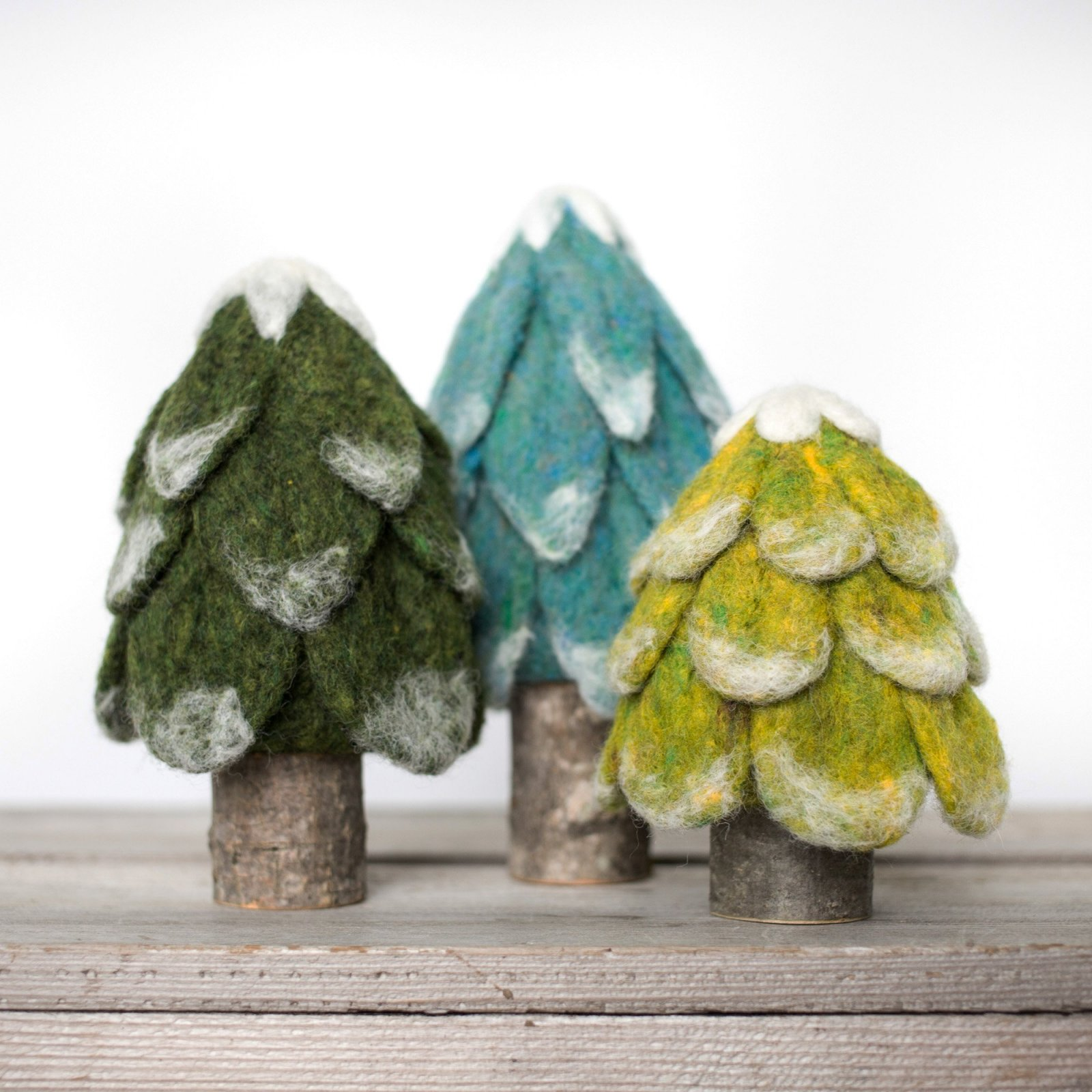 Evergreen Trees Needle Felting Kit