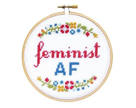 Feminist AF Cross Stitch Kit