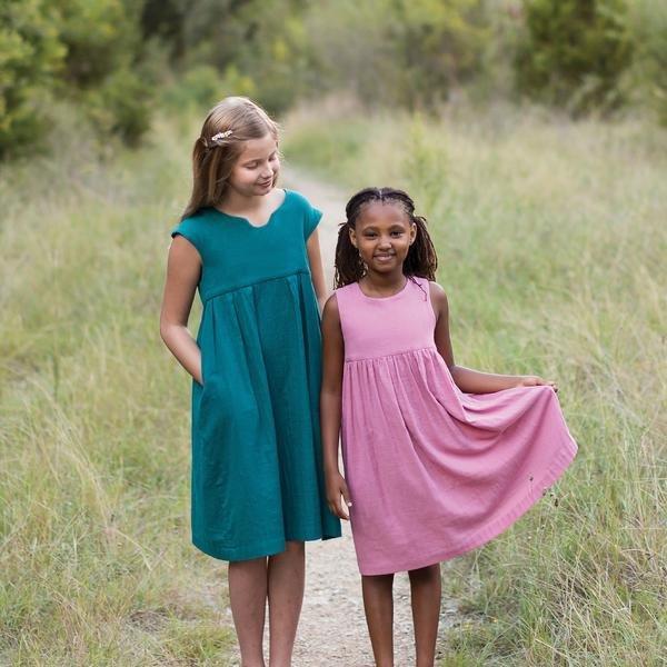 Geranium Dress Pattern (child size 6 - 12)