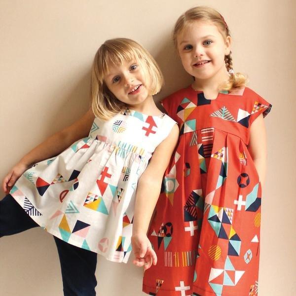 Geranium Dress Pattern (child size 0 - 5T)