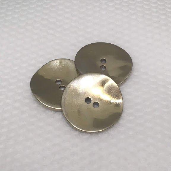 Gold Wavy Button