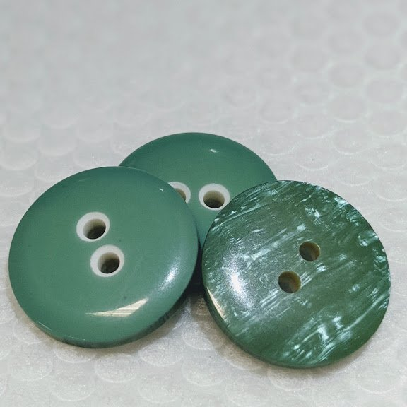 Green/Pearlized Double Sided Button