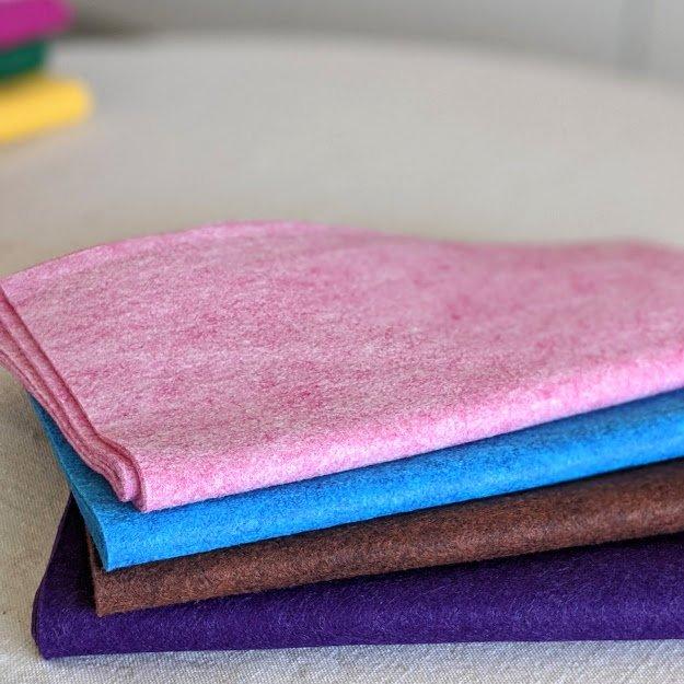 Wool/Rayon Blend Felt Sheets - Heathered