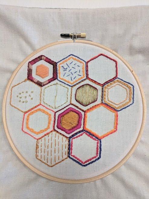 Honeycomb Sampler Embroidery Kit