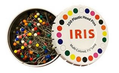 Iris 1.5 Multi-colored Sewing Pins
