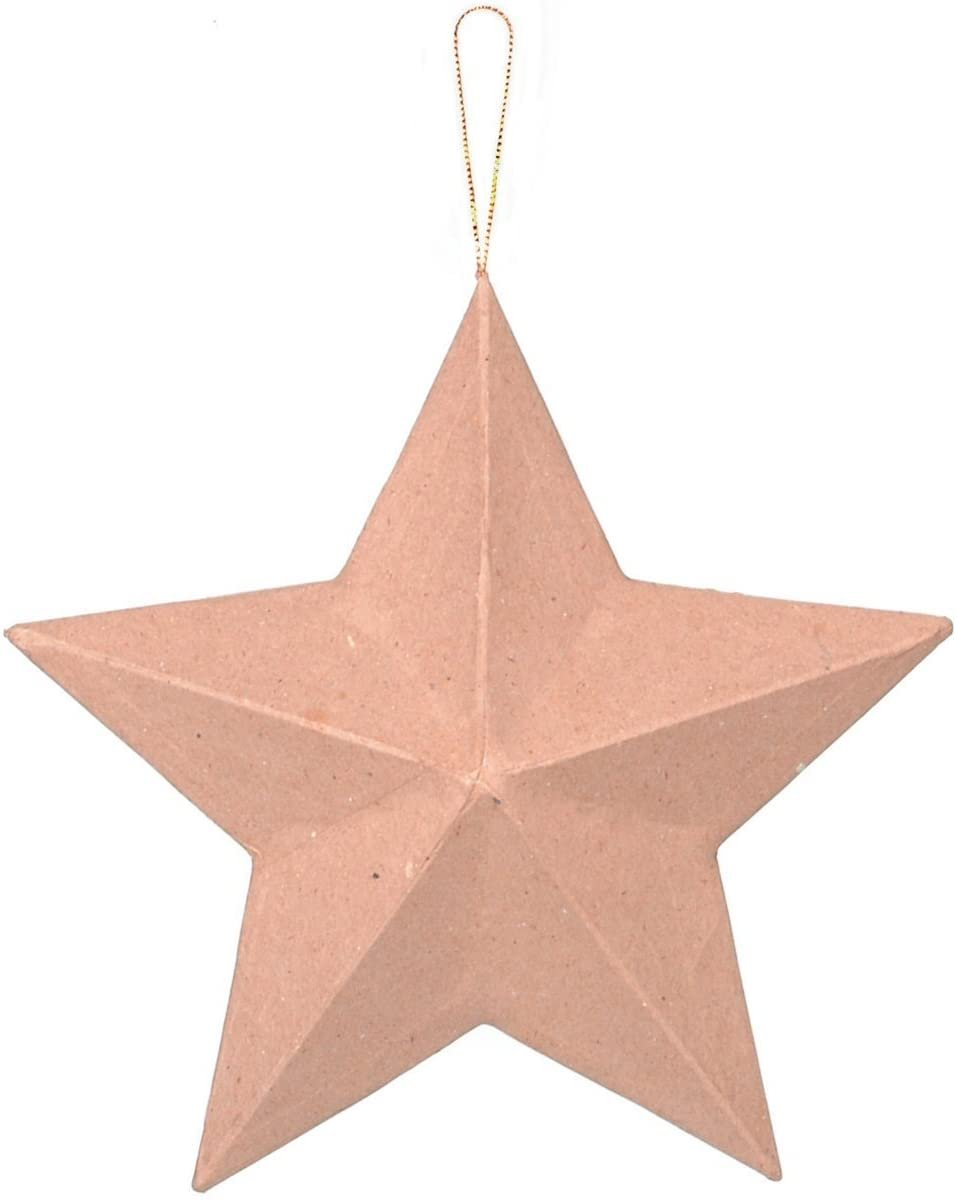 Large Paper Mache Star - 8 inches