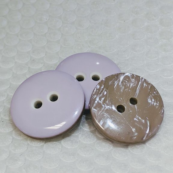 Light Purple/Pearlized Double Sided Button