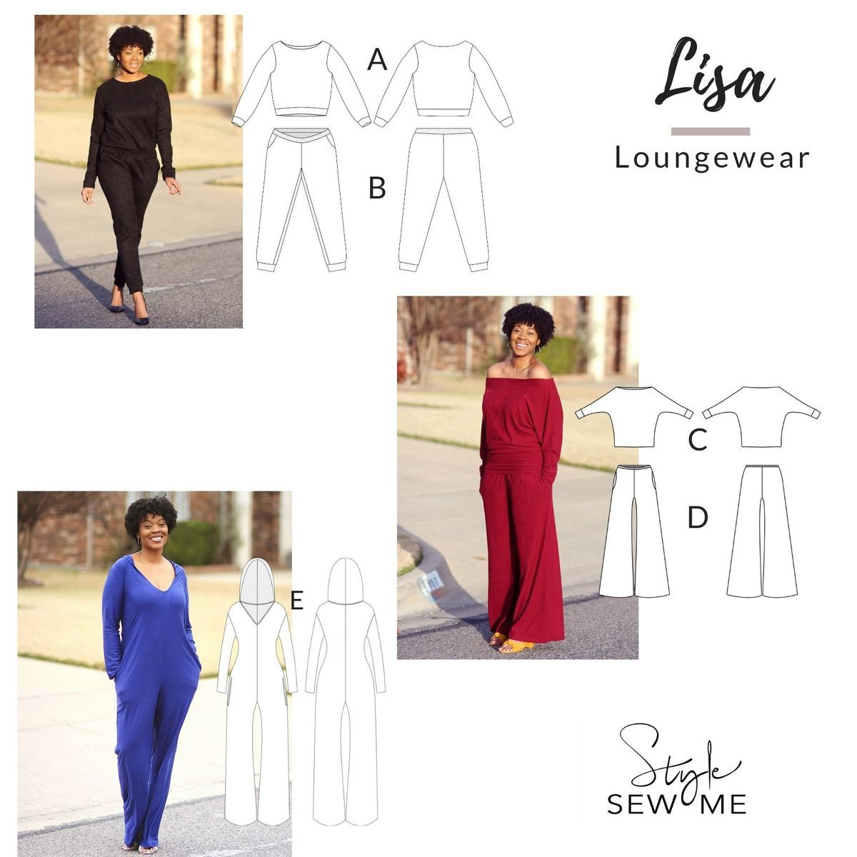 Lisa Loungewear Pattern Collection
