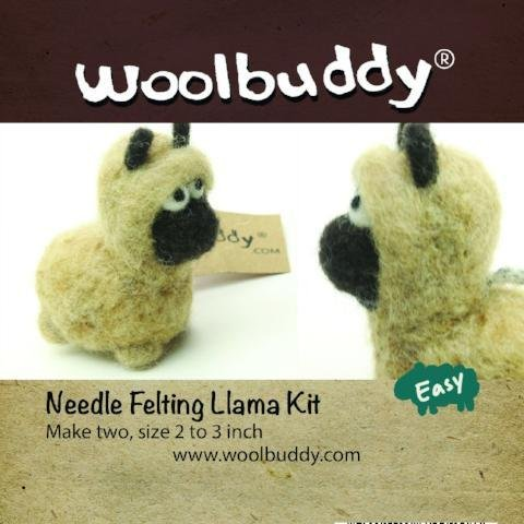 Llama Needle Felting Kit