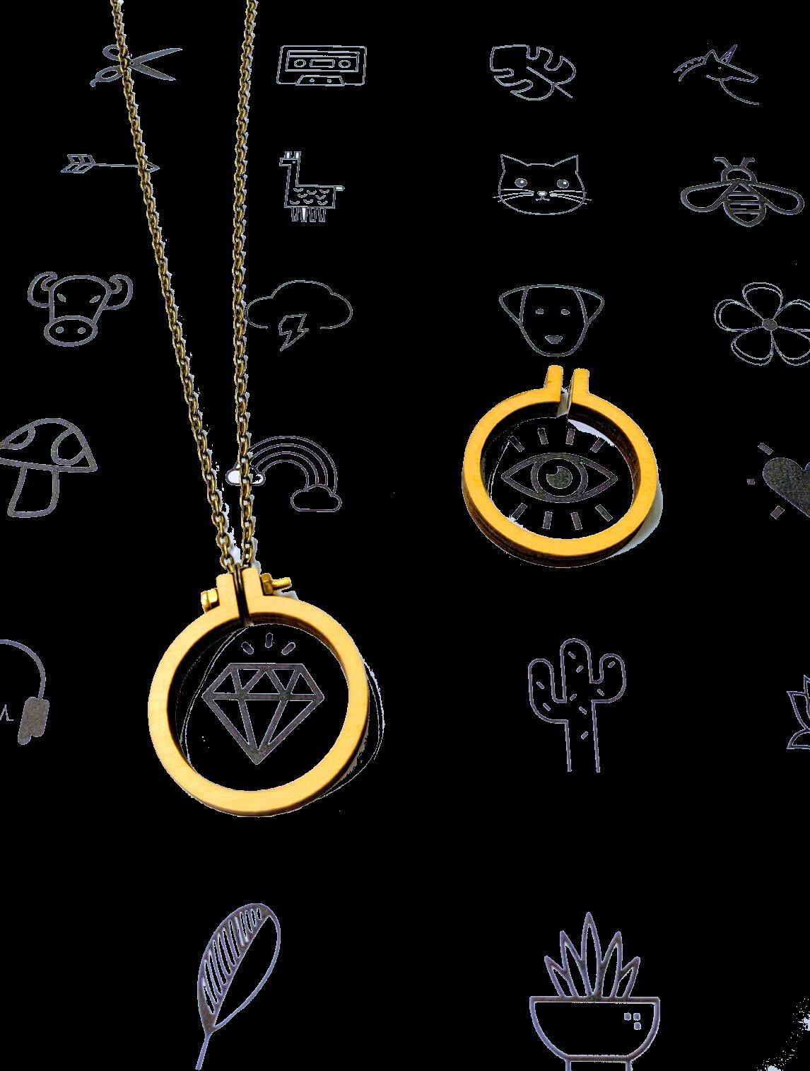 Mini Hoop Necklace Kit - Icon