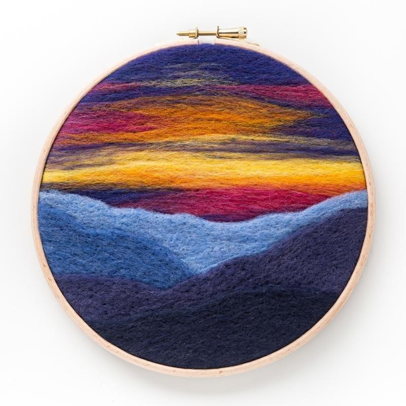 Mountain Sunset Needle Felting Kit
