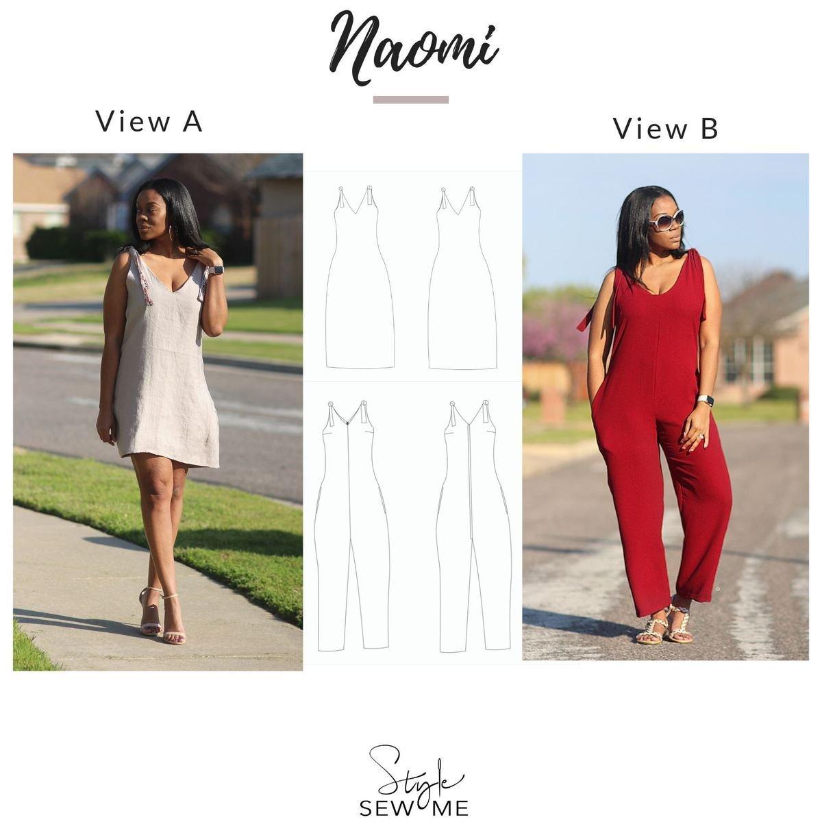 Naomi Dress & Jumpsuit Pattern