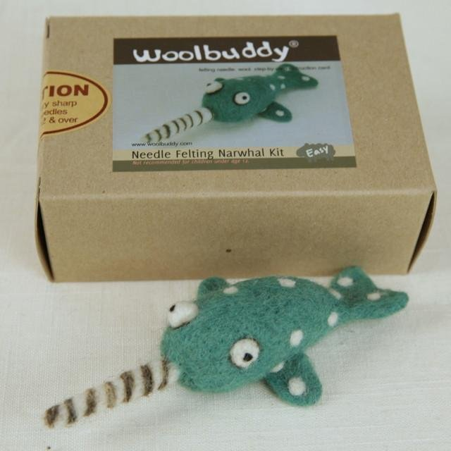 Narwhal Needle Felting Kit