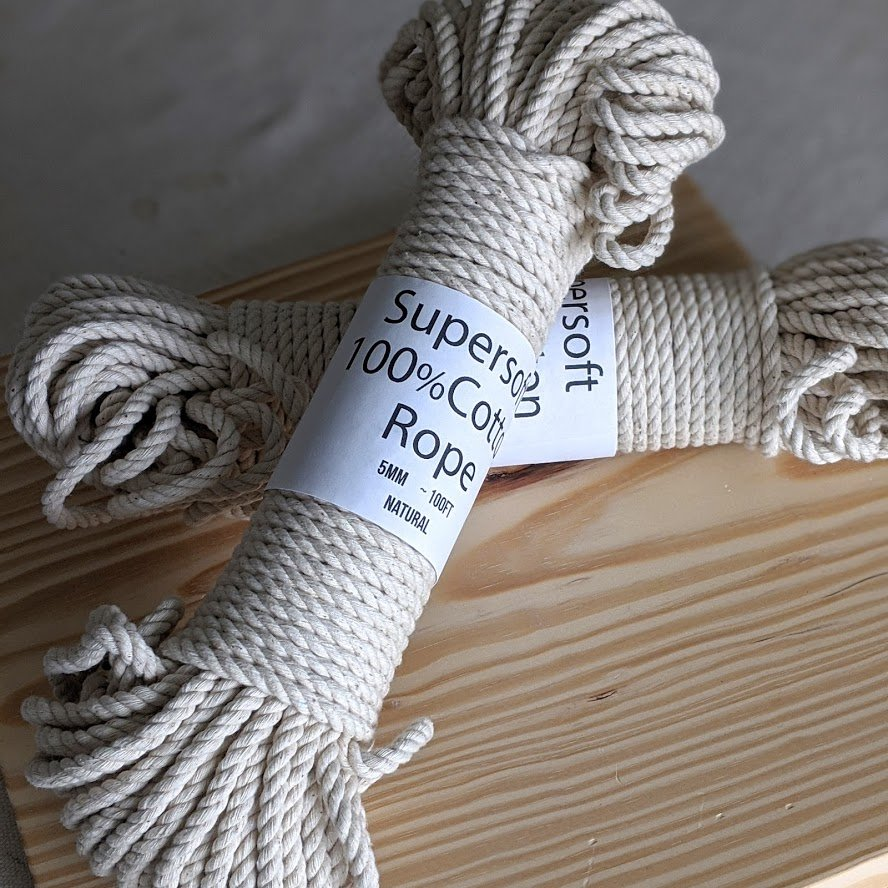 Natural Cotton Rope - 5mm