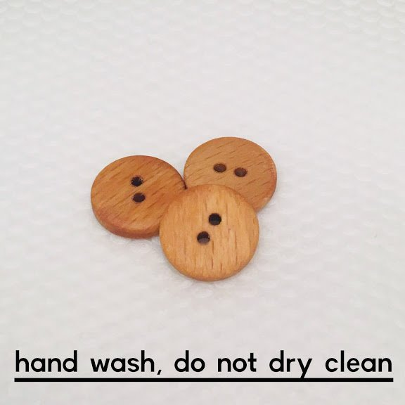 Natural Wood Two Hole Button