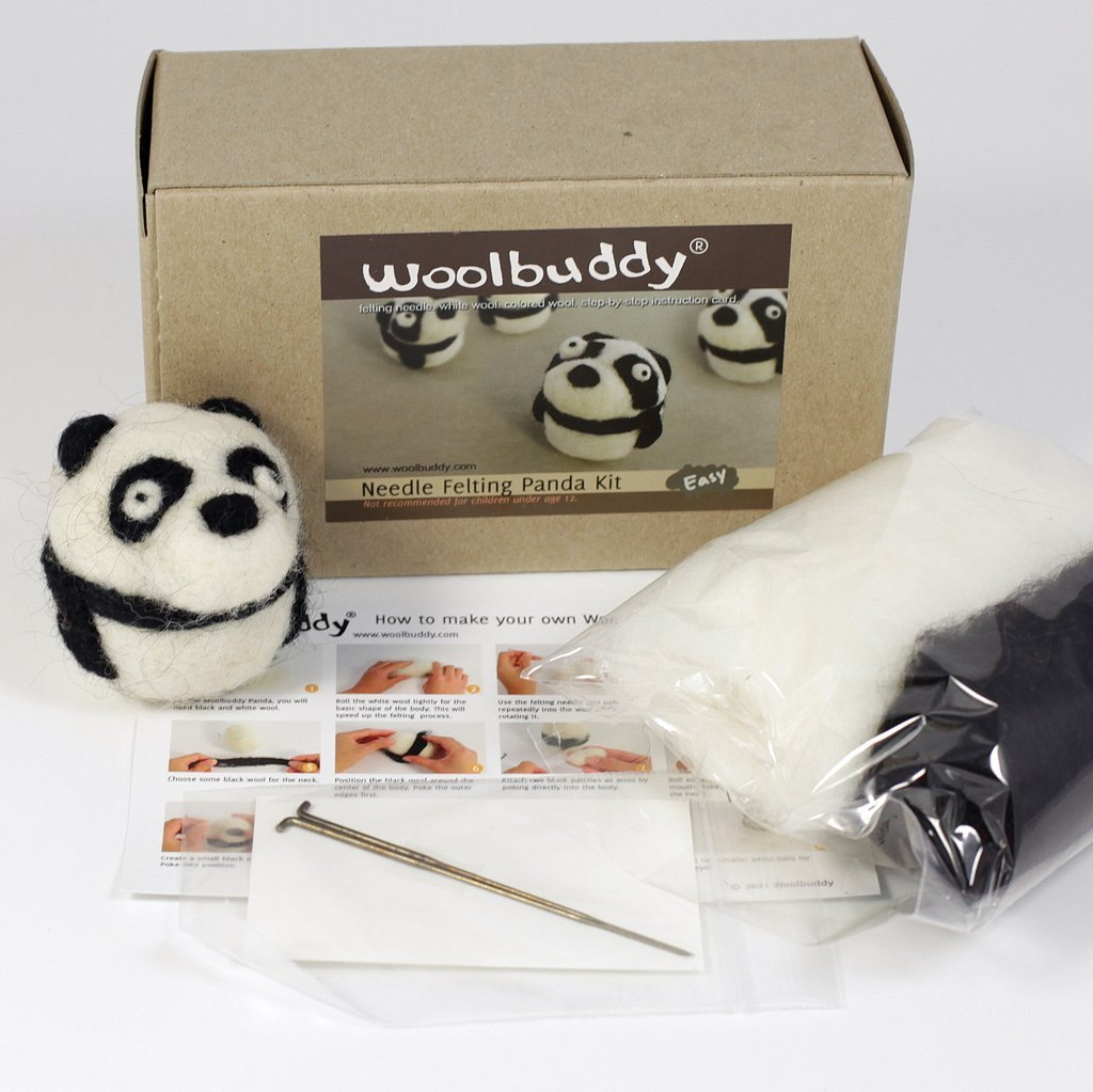 Panda Needle Felting Kit
