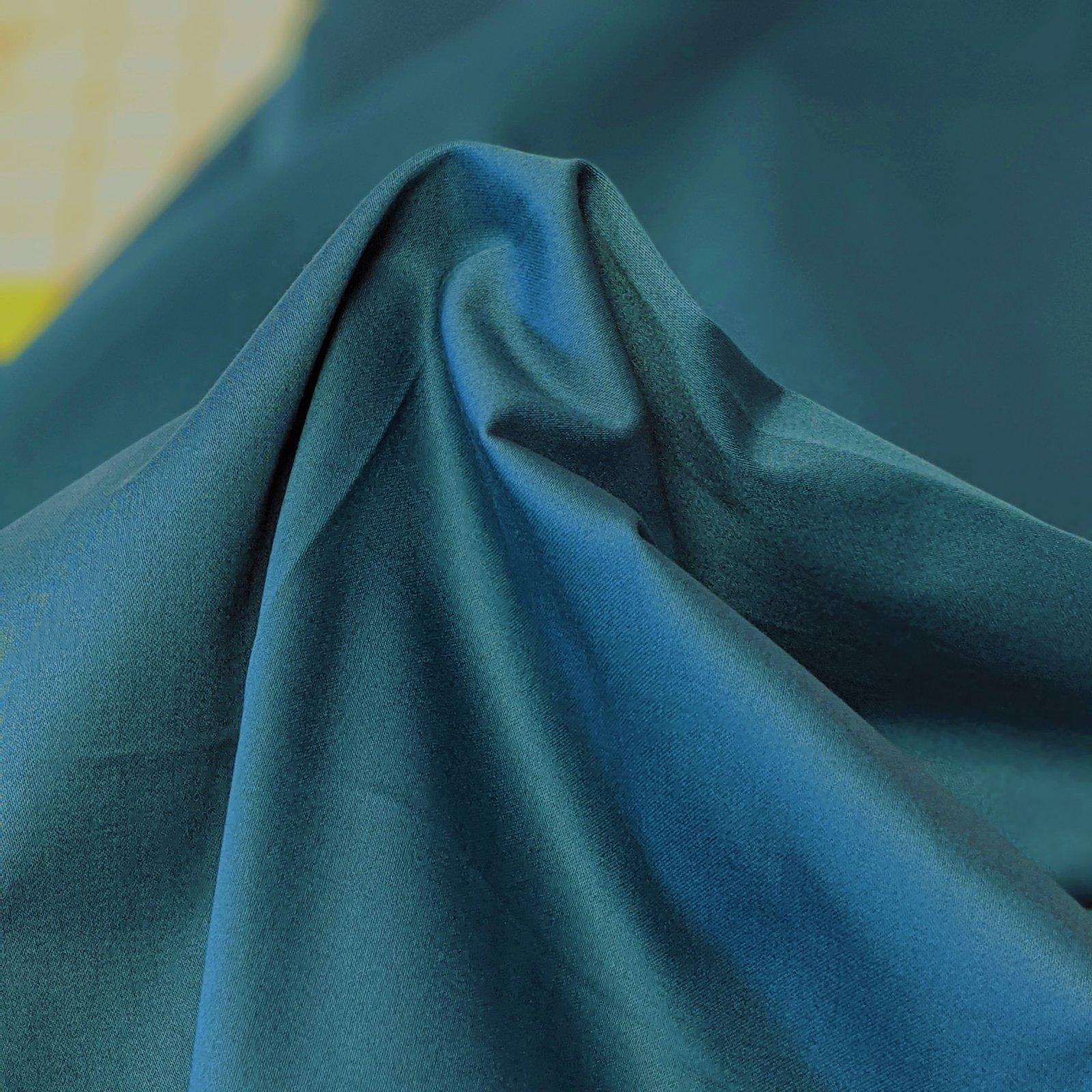 Cotton/Spandex Stretch Poplin - Peacock Blue