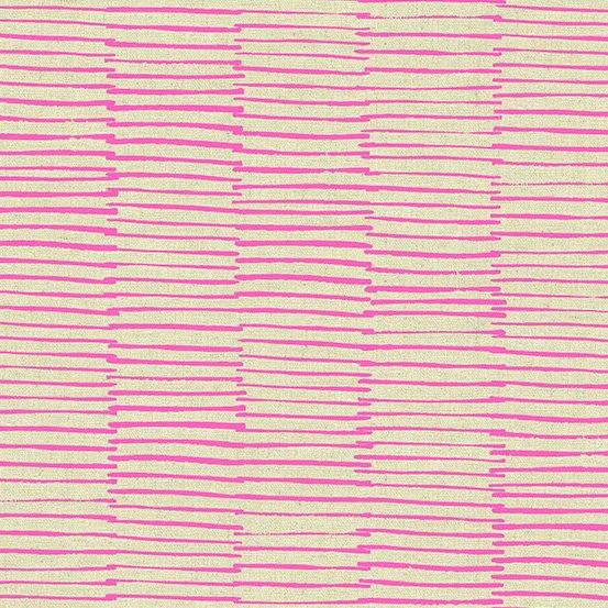 Pink Brushstrokes on Cotton/Linen Canvas