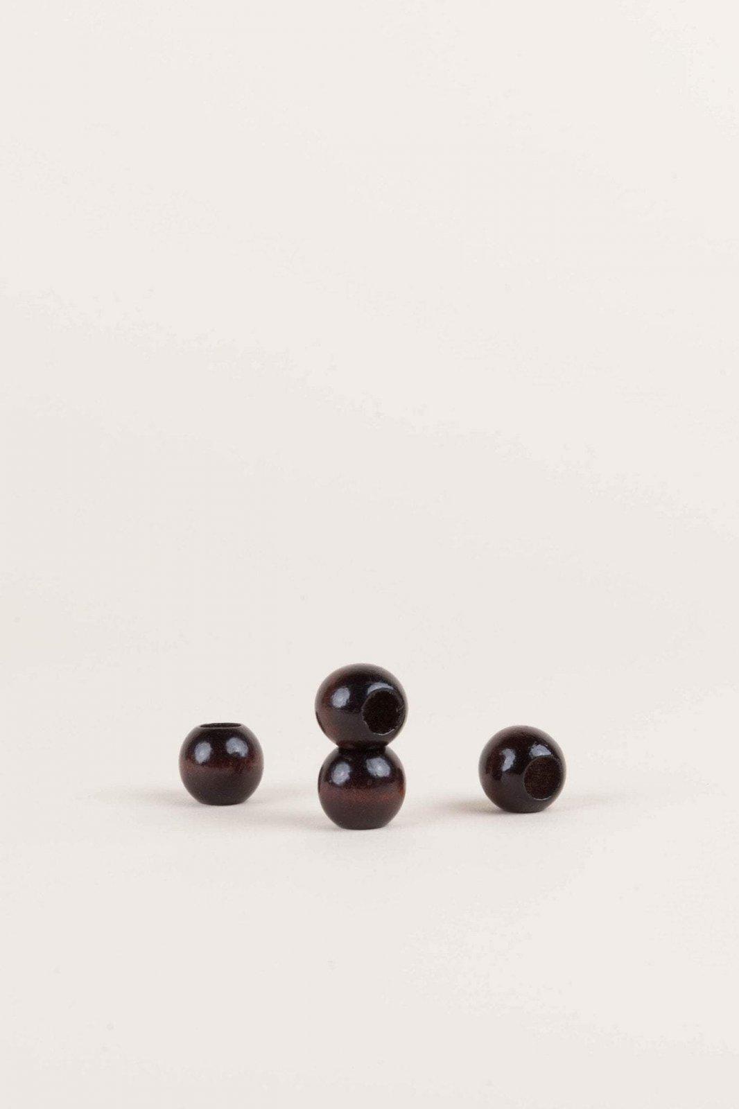 Wood Macrame Beads