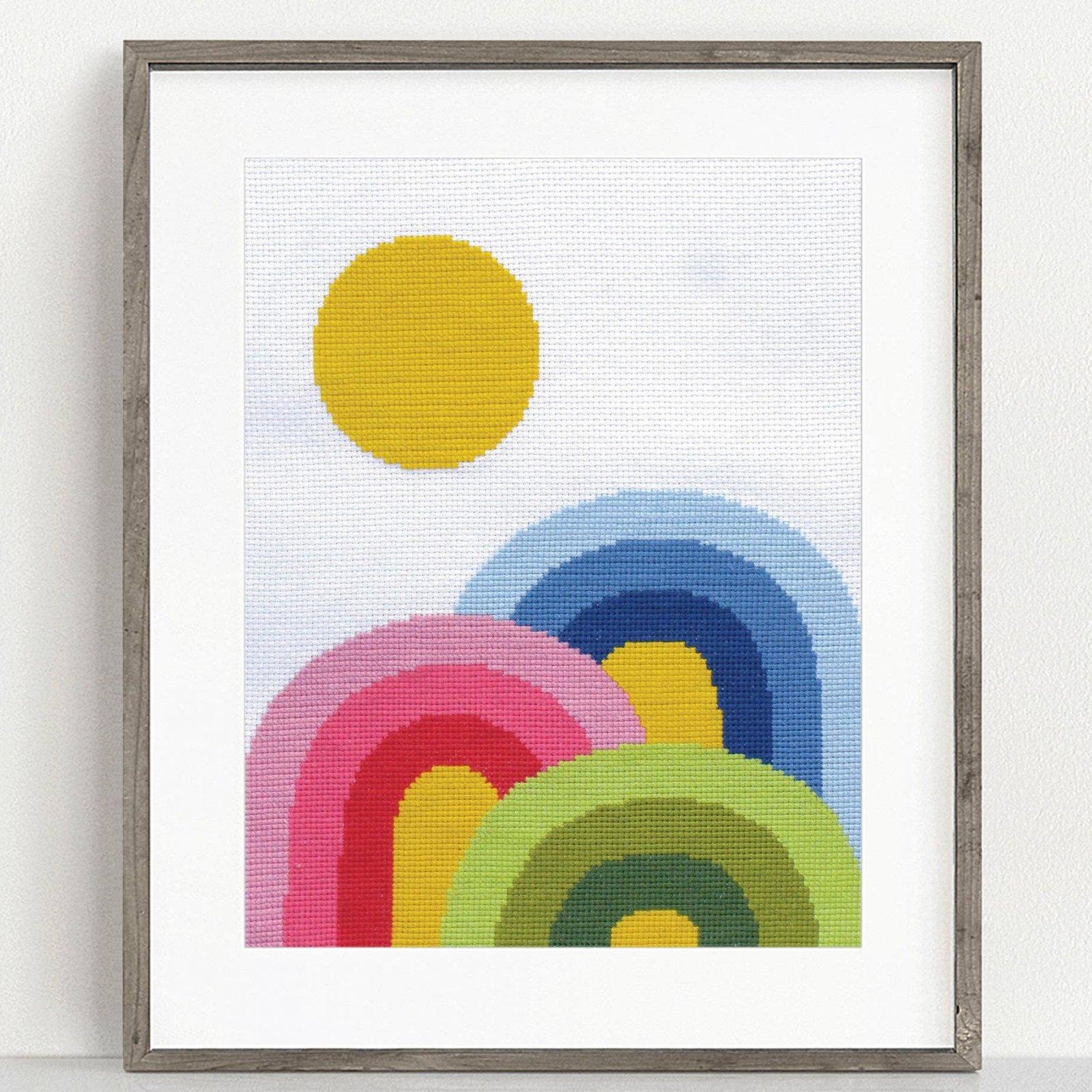 Rainbow Trifecta Cross Stitch Kit