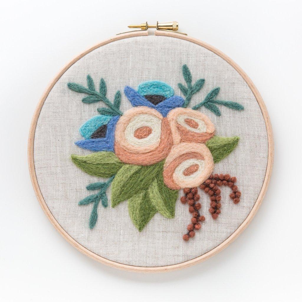 Rose Bouquet Needle Felting Kit