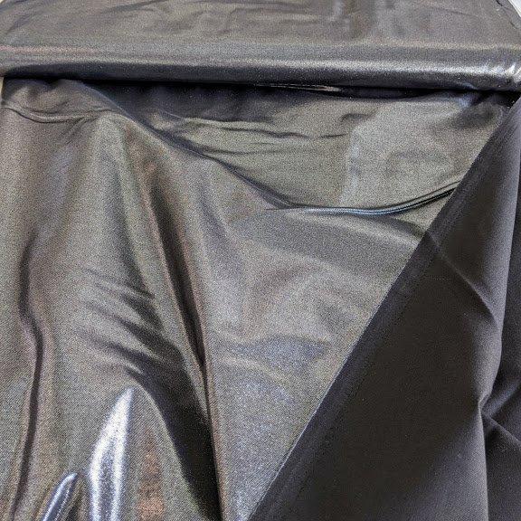 Foil Faced Cotton - Silver on Black