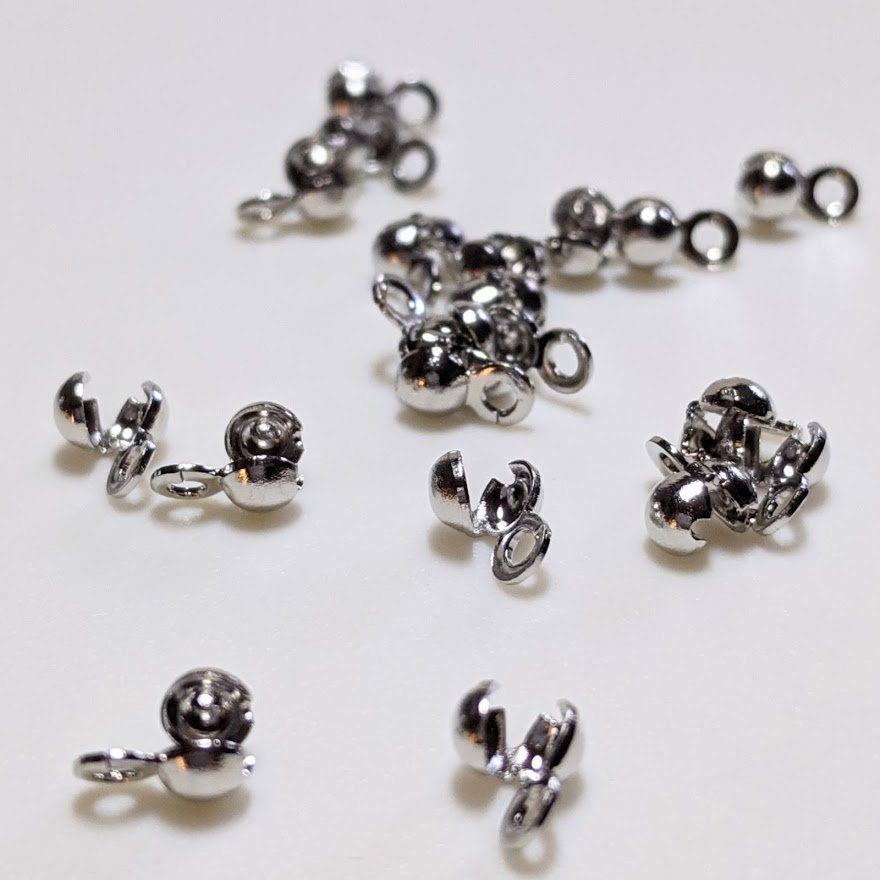 Nickel Plated Knot Covers/ Bead Tips