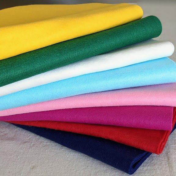 Wool/Rayon Blend Felt Sheets - 12 x 18