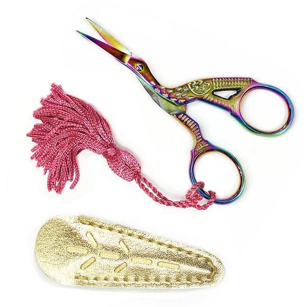 Prismatic Stork Embroidery Scissors