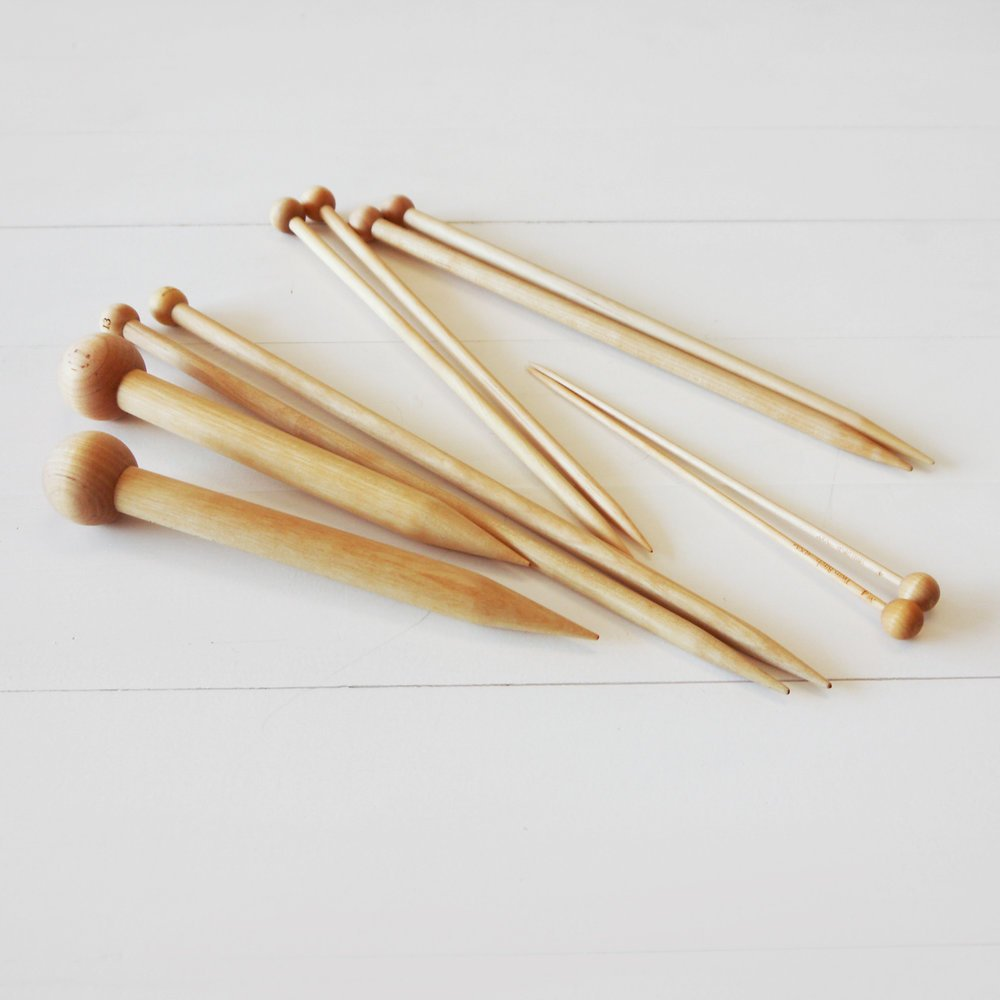 Twin Birch Straight Knitting Needles