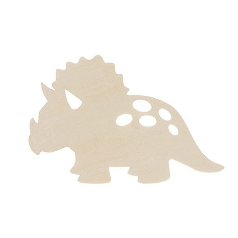 Unfinished Wood Triceratops