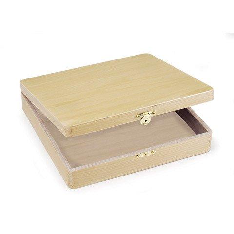 Unfinished Wood Hinged Boxes