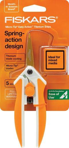 Fiskars Titanium Blade coated Easy Action Micro-Tip Scissors