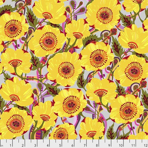 Sunshine Bloom - Yellow - Woven Cotton
