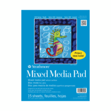 KIDS MIXED MEDIA PAPER PAD 9X12 15 SHEETS