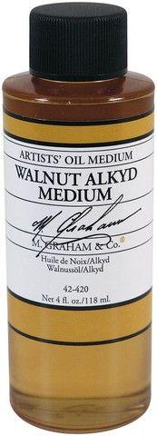 GRAHAM OIL 4OZ WALNUT ALKYD MEDIUM